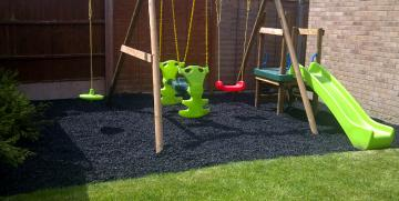 Rubber Chippings do not need regular top ups, Terrasofta will not deteriorate, decompose or blow away.